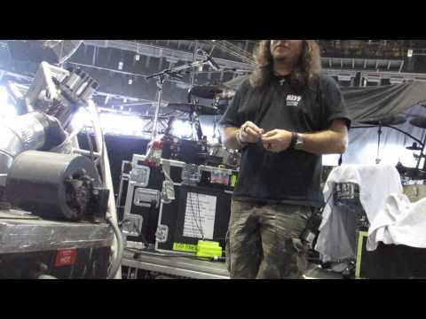 Eric Singer Kiss Drum Tech Paul Bassett Backstage Hartford CT 8/10/14