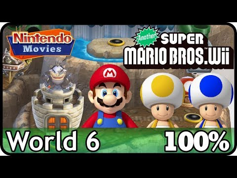 Another New Super Mario Bros. Wii - World 6 (100%, Multiplayer)