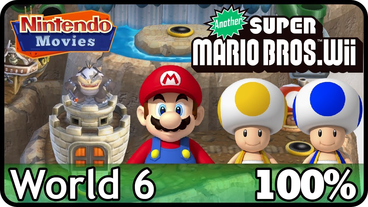 Another New Super Mario Bros Wii World 6 100 Multiplayer