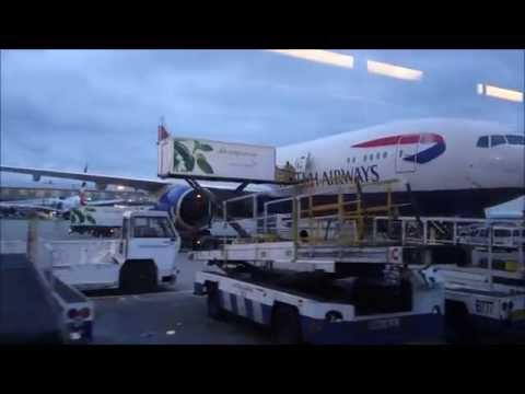 British Airways London Heathrow to Rome Long Bus Ride Dec 14
