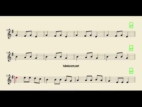 Carol of the Bells Sheet Music for Alto Saxophone Baritone Saxophone and Horn Christmas Carol
