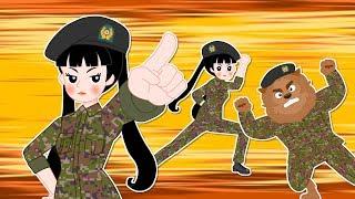 [직업 프린세스] 군인 프린세스 #2 | 충성! 군인이 하는 일 | 진짜 군인이 된 야수? | 직업놀이★지니키즈