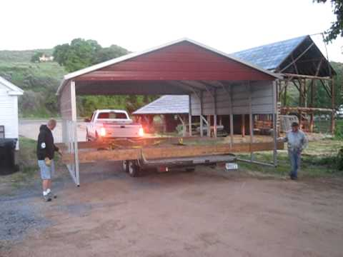 Moving the carport youtube for How to move a building