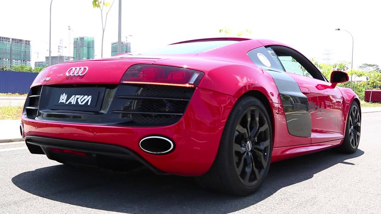 Audi R8 V10 with Armytrix Titanium Exhaust, AMAZING AGGRESSIVE sound! - YouTube