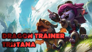 Dragon Trainer Tristana LEGENDARY Skin Spotlight Gameplay - League of Legends (LoL new skin)
