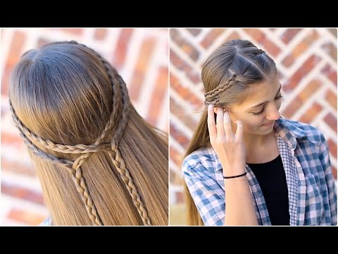 Double Braid Tieback | Cute Girls Hairstyles