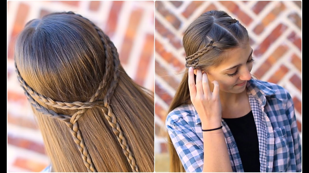 double braid tieback cute girls