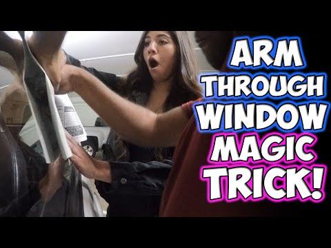 ARM THROUGH WINDOW MAGIC TRICK!!