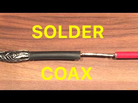 How To Easily Solder 2 Coax Cables Together