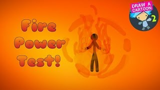 Fire Power on Drawing Cartoons 2! | Short Animation