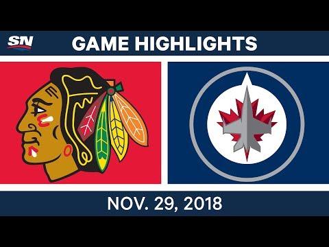 NHL Highlights | Blackhawks vs. Jets - Nov 29, 2018