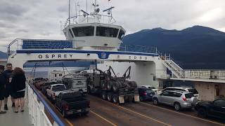 BigRigTravels Vacation - Osprey 2000 ferry ride on Kootenay Lake  in British Columbia Canada 7/15/19