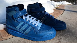"""I'm 90% sure that the """"Brand with 3 Stripes"""" used the exact same materials for this (Blue Thread) release as they did for the last Forum 84 High Blue Thread."""