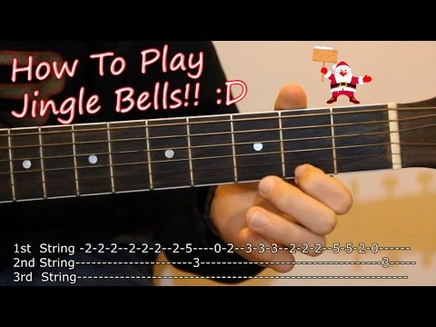 Jingle Bells // How to Play on Acoustic Guitar // Tabs Lesson 🎄🎅