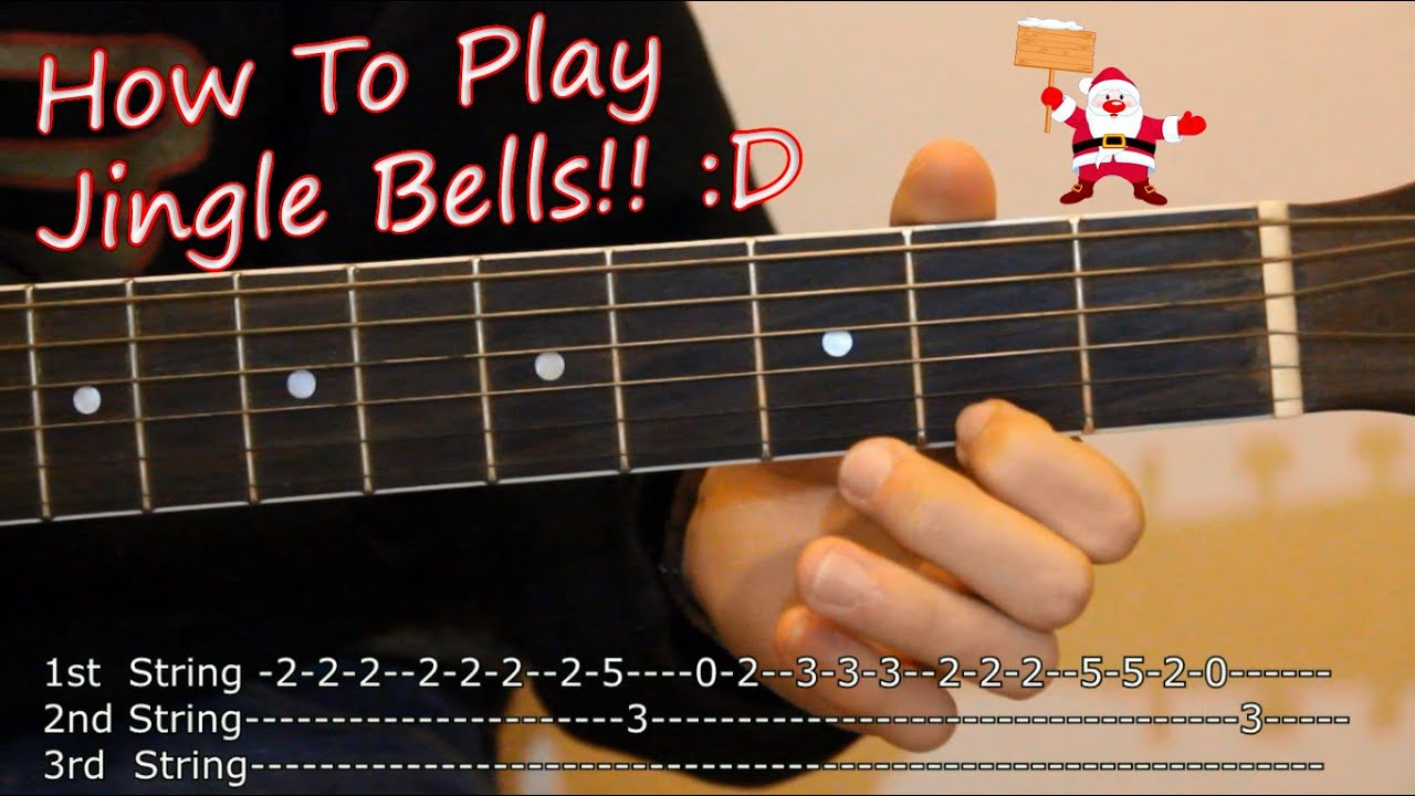 Jingle Bells How To Play On Acoustic Guitar Tabs Lesson
