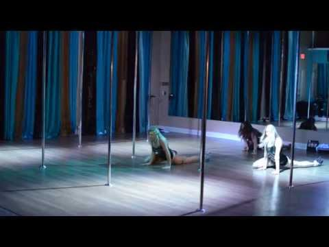 Down With the Sickness - Disturbed Beginner Pole Dance Routine 6-15-15