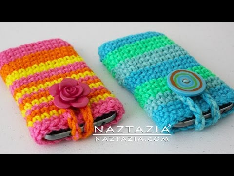 DIY Tutorial – How to Crochet Easy Mobile Cell Phone Pouch Case Cover Holder for iPhone iPod Samsung