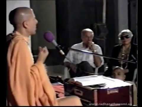 Radhanath Swami with his Parents at Piramal's Residence - Part 02