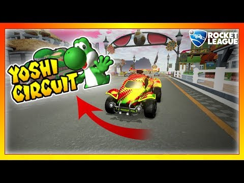 Playing Mario Kart, but in Rocket League? (Yoshi Circuit Best Moments) thumbnail