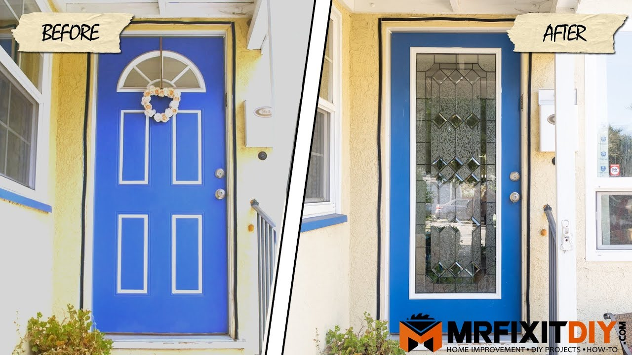 Adding Glass to Your Front Door - A DIY Guide - YouTube