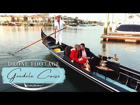 Romance on the Water - Gondola Adventures Drone Footage - Newport Beach, CA