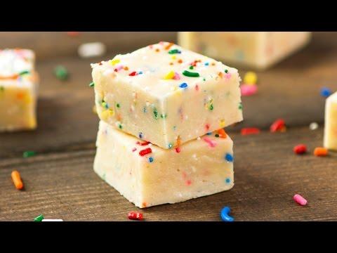 Easy Cake Batter Fudge (No Bake)