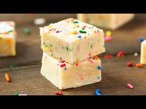 Download Youtube: Easy Cake Batter Fudge (No Bake)