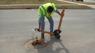Magnetic Manhole Cover Lift System