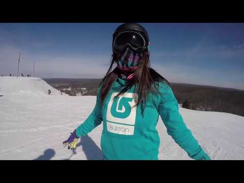 Snowboardings Freestyle Artist Jibbing Queen GoPro Hero 4