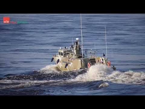 заводом «ПЕЛЛА» проведены заводские ходовые испытания патрульного катера проекта 03160 «РАПТОР»