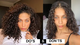 STYLING CURLY HAIR DO'S & DON'TS for volume and definition | Jayme Jo