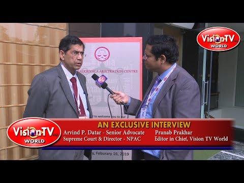 Nani Palkhivala Arbitration Centre Director & Senior Lawyer Arvind Datar on Arbitration