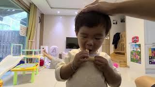 오감자, 포도주스 냠냠(20개월 시안이 간식)