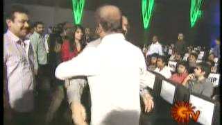 Repeat youtube video Indian Super Star Rajini Kanth's   Rajini Entry In Endhiran Trailor Release