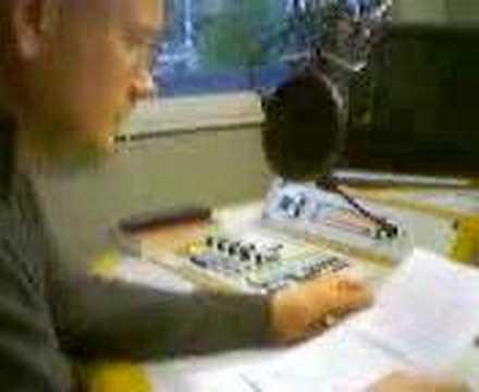 Radio News in Studio of Radio Frankfurt (Germany)