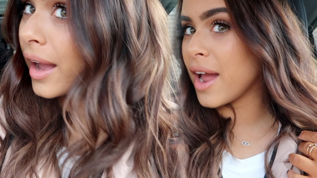 Getting Lighter Balayage Highlights Brown Hair Youtube