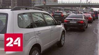 Смотреть видео Хроническая пробка на Ленинградке: водителей подвел светофор - Россия 24 онлайн
