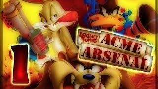 Looney Tunes: Acme Arsenal Walkthrough Part 1 (X360, Wii, PS2) World 1 : Level 1