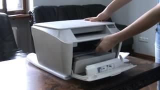 видео как достать картридж из принтера
