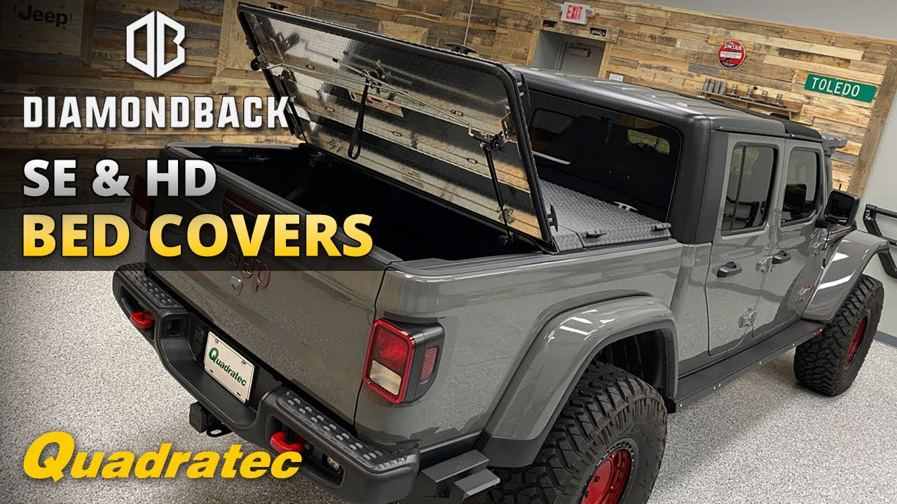Diamondback Se Hd Bed Covers Install Review For Jeep Gladiator Youtube