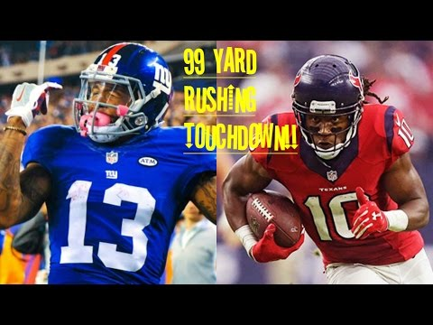 WHO CAN GET A 99YD RUSHING TOUCHDOWN FIRST?!? OBJ VS DEANDRE HOPKINS!!!