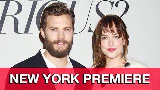 Fifty Shades of Grey Fan Premiere - Jamie Dornan, Dakota Johnson, Sam Taylor-Johnson, E.L. James