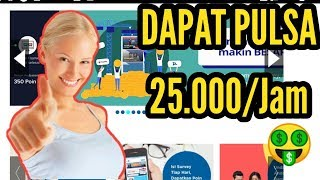 TERBARU!! CARA MENDAPATKAN PULSA GRATIS HANYA DENGAN MENGISI SURVEY - 25.000 Per Jam