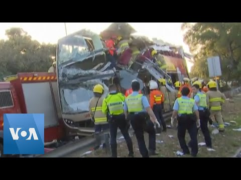 6 Dead, Many Injured In Hong Kong Bus Accident
