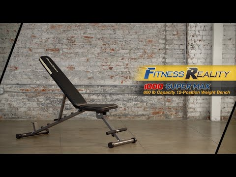 2804 - Fitness Reality 1000 Super Max 800lbs Capacity 12-Position Weight Bench