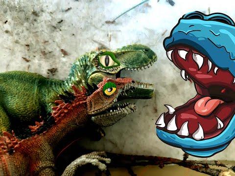 Пасть динозавра и борьба с крокодилом. Дилофазавр, Тираннозавр