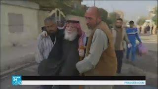 نقل سكان حي الزهراء شرقي الموصل إلى أماكن آمنة