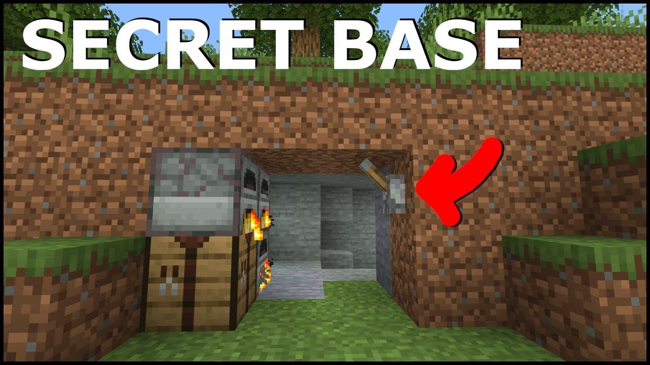 Minecraft: 10+ Secret Redstone Base! [easy]