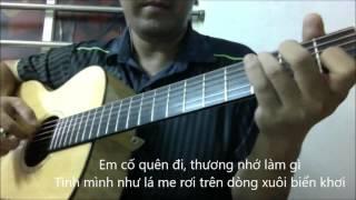 Vung la me bay (Nhu Quynh - tone nam Am) [Guitar solo] [K'K]