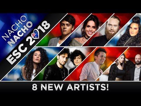 ESC 2018 - All Artists Chosen (8 New!) 🇩🇰🇮🇹🇭🇷🇲🇰🇮🇱🇬🇷🇧🇾🇲🇪